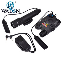 WADSN Weapons Airsoft LED light Tactical kit includes LA 5/PEQ 15 Red IR Laser & WMX200 Flashlight &Double Remote Control WEX418