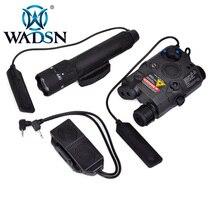 WADSN silahlar Airsoft led ışık taktik kiti içerir LA 5/PEQ 15 kırmızı IR lazer ve WMX200 el feneri ve çift uzaktan kumanda WEX418