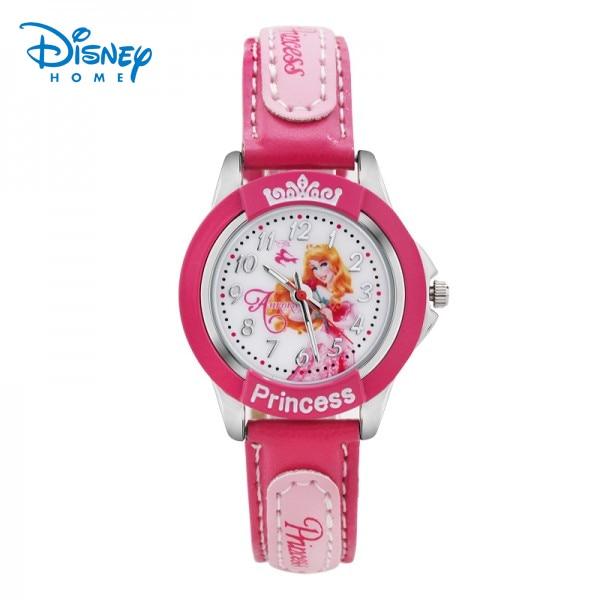 100% Genuine Disney children watch Princess aurora Pink Watch Mickey Minnie watches snow white Quartz Wristwatches 84601