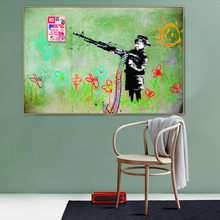 Abstract Banksy Crayon Boy Graffiti Street Art Canvas Painting Poster Print POP Wall Pictures Living Room Home Decor