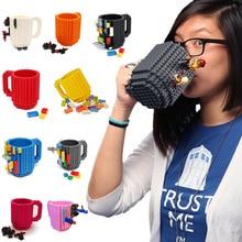 Neue Kreative DIY Montage Build-auf Ziegel Becher Bausteine Kaffeetasse Ziegel Tee Trinken Tasse TB Verkauf
