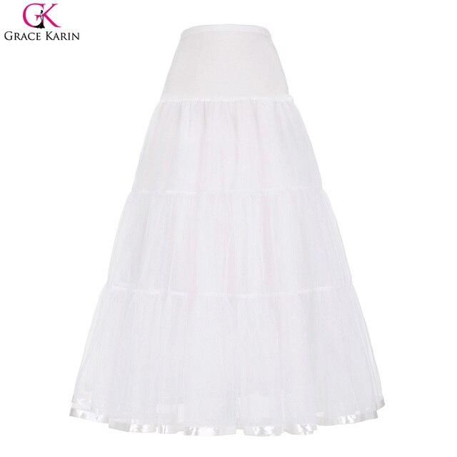 aa9b855934 Underskirt Long Petticoat Rockabilly Skirt Wedding Accessories Vintage  Party Tutu Skirts Adults Pettiskirt Dance Crinoline Slip-in Petticoats from  ...