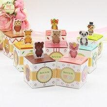 Big Heard Love 50 шт./лот, коробка для конфет в виде животных, Подарочная коробка для детского душа, Подарочная коробка для животных Safari, диких животных, вечерние и праздничные принадлежности