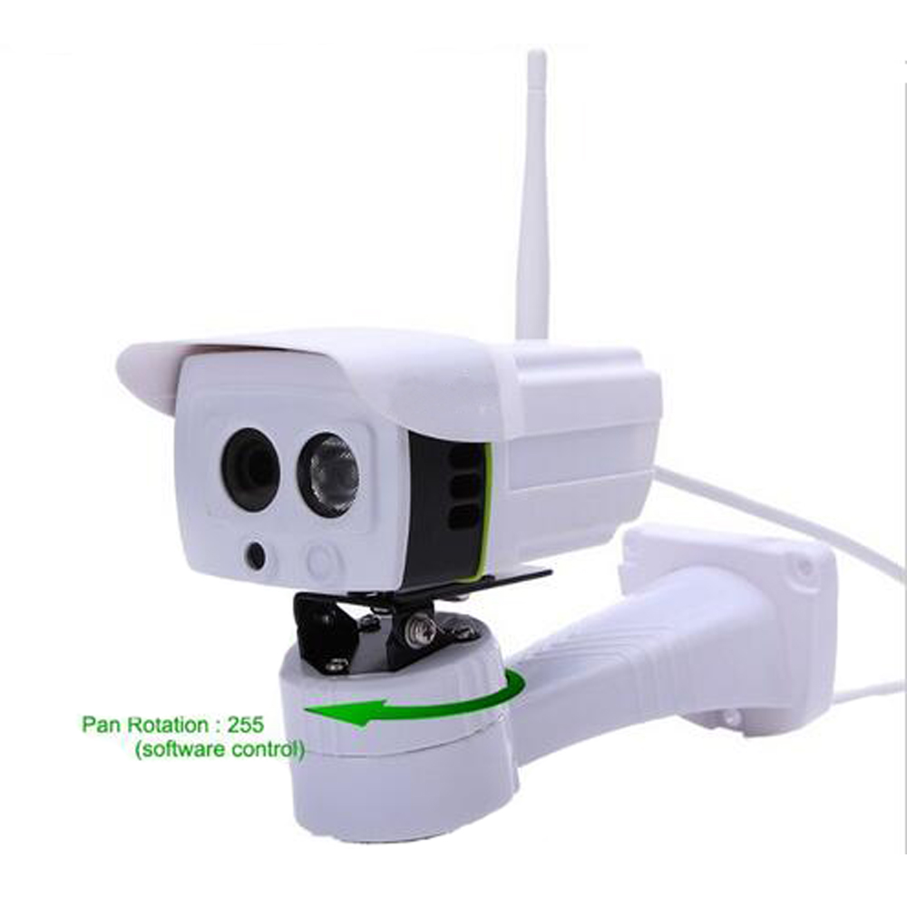 Wireless Outdoor IP Camera Pan Rotation Control by Software ONVIF 720P 1.0 Megapixel with Micro SD Slot Array IR Night Vision бра leds c4 torino 05 4695 y2 82 pan 175 by