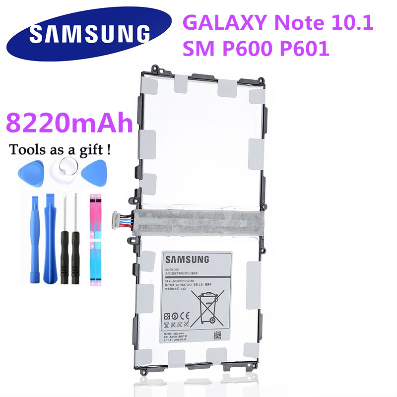 Аккумулятор для планшета T8220C, телефон T8220E для Samsung GALAXY Note 10,1 Tab Pro 10,1 P600 P601 P605, Φ, 8220 мАч