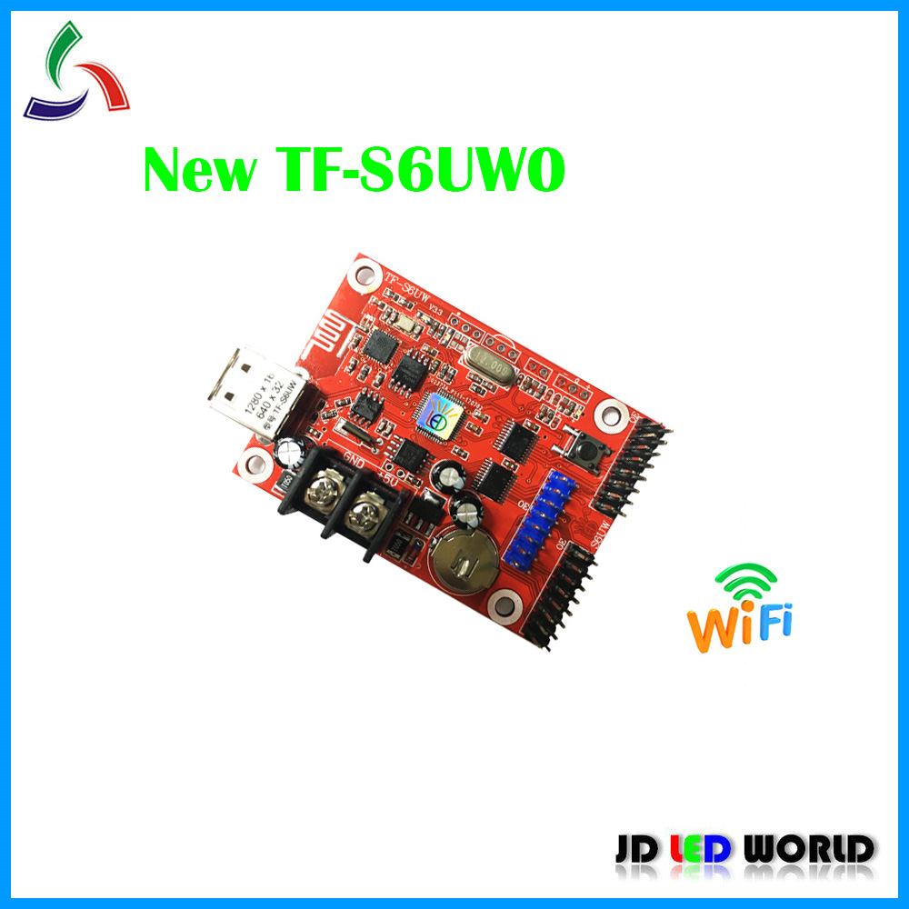 TF S6UW0 wifi LED controller card comes with 1 HUB08 2 HUB12 USB WIFI supports Single