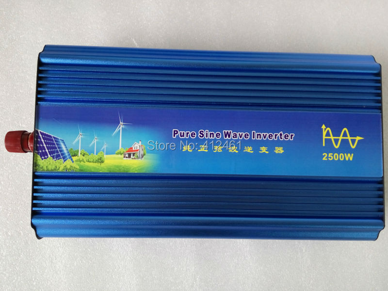 цена на Inversor de onda pura 2500watt 12 Volt 220 Volt Solar Off Grid DC-AC Inverter Pure Sine Wave 2500W