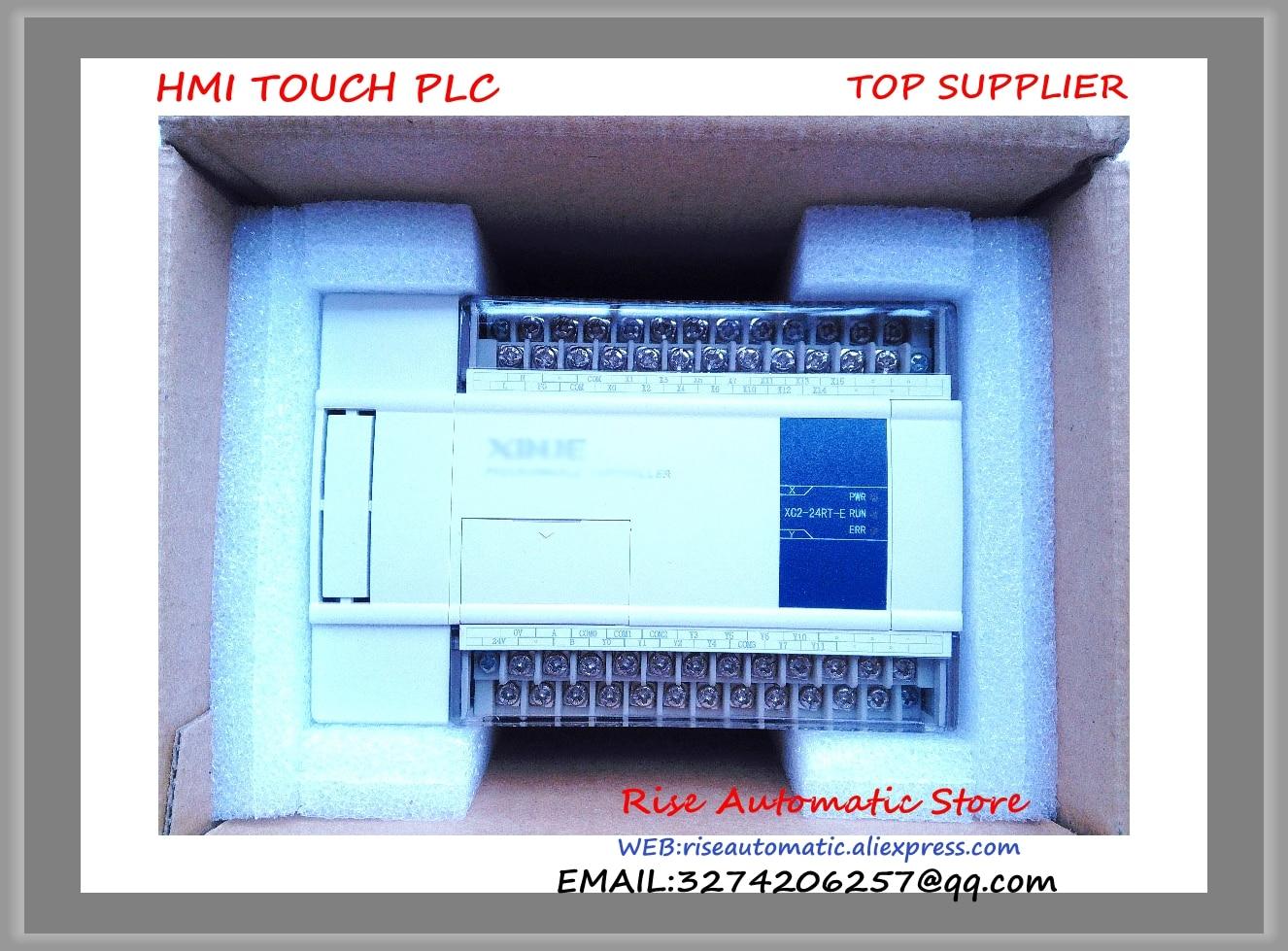 New Original XC2-24RT-E PLC AC220V 3COM +cable& 14point NPN input 10point Transistor/Relay output brand new original plc digital input 36 transistor output 24 system main unit 1 com fbs 60mct2 ac 24vdc