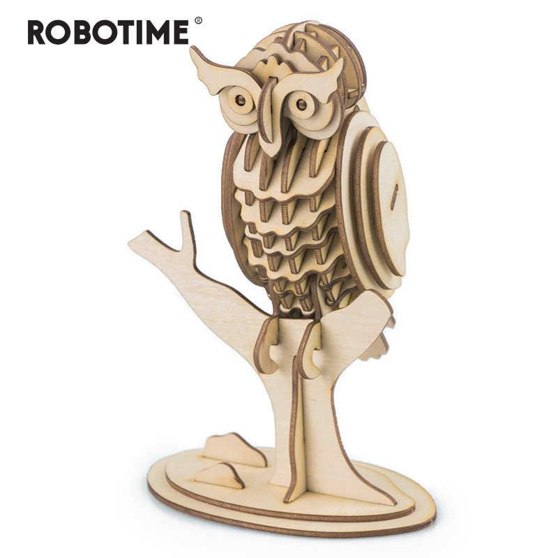 Robotime 3D игра деревянная головоломка игрушки хобби модель строительные наборы для детей развивающие игрушки для малышей популярные игрушки сова TG252