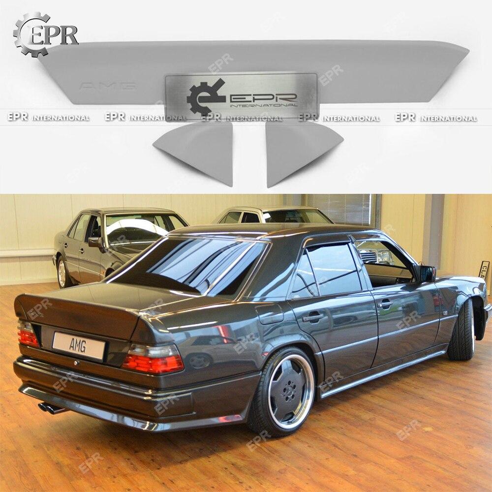 Lèvre d'aile arrière FRP pour classe E W124 (1984-1995) berline 4 portes 200TE E220 230TE E280 300TE 250D AMG Style aileron arrière
