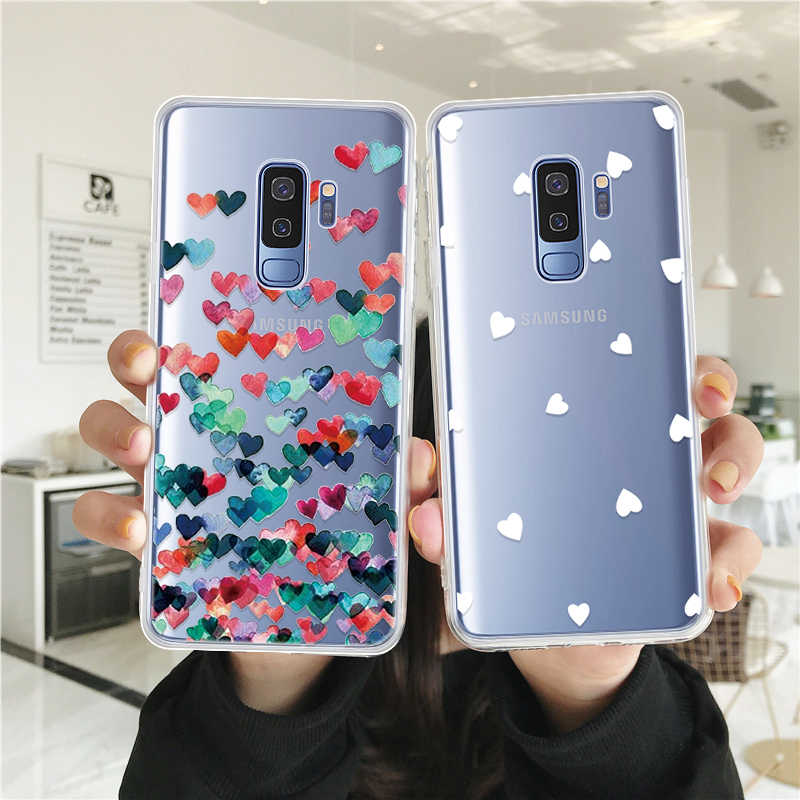 GerTong Silicone Phone Case For Samsung Galaxy A8 Plus J6 J4 2018 Note 9 8 S8 S9 Plus S10 E S10e Painting Soft TPU Back Cover