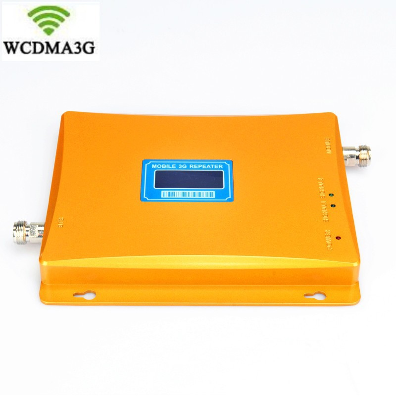 High Gain Drop Ship Newest 2G 3G LCD Signal Booster ! W-CDMA 2100MHz Mobile Phone Booster Amplifier 3G Repeater Amplifier