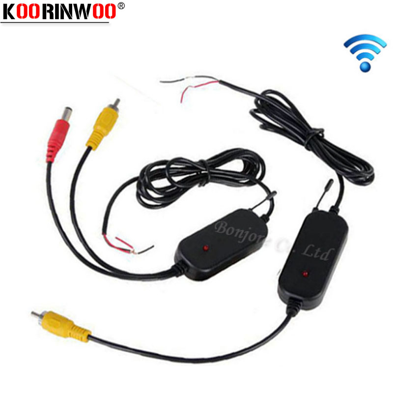 Koorinwoo Parking System 2.4G Wireless Transmitter And Receiver For 12v Car Rear View Camera And TFT LCD Monitor DVD Video RCA