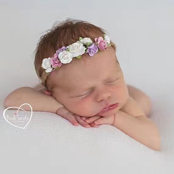 Kids Hair Band Multicolor Flower Rope Headband Newborn Photo Prop Headband Accesorios Para El Pelo hot sale hair accessories headband styling tools acessorios hair band hair ring wholesale hair rope