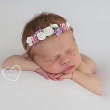 Kids Hair Band Multicolor Flower Rope Headband Newborn Photo Prop Headband Accesorios Para El Pelo