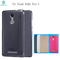 Nillkin Sparkle Leather Flip Case Cover For Xiaomi Redmi Note 3 Magnetic Smart Sleep