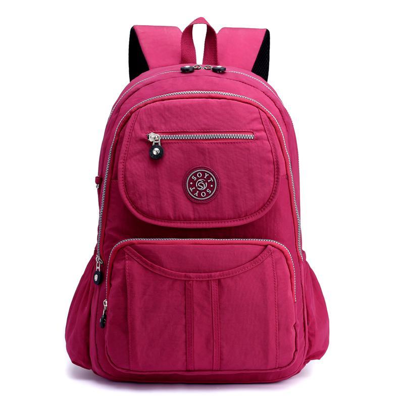 School Backpack for Teenage Girls Mochila Feminine Backpacks Women Solid Brand Nylon Casual Laptop Bagpack Female Large Capacity цена