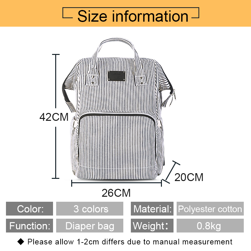 Baby Diaper Bag Mummy Maternity Travel Waterproof Bag Nappy Changing Backpack Organizer Nursing Wet Bag Large Capacity Baby Bag (8)