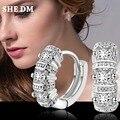 Стерлинг-серебро-ювелирные изделия pendientes mujer серьги 925 плата brincos earing stud orecchini oorbellen женщин кристаллические ювелирные изделия 12