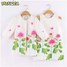 Menoea-2016-Brand-New-Autumn-Girls-Clothing-Sets-Floral-Print-Girls-Outerwear-Girls-Dress-2pcs-for