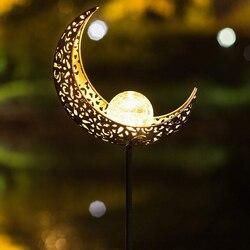 Zewnętrzne wodoodporne led lampy słoneczne księżyc/płomień projekt słonecznego szkła udziałów lampki nocne ogrodowa lampa dekoracja obejścia w Dekoracyjne paliki i ozdoby wiatrowe od Dom i ogród na