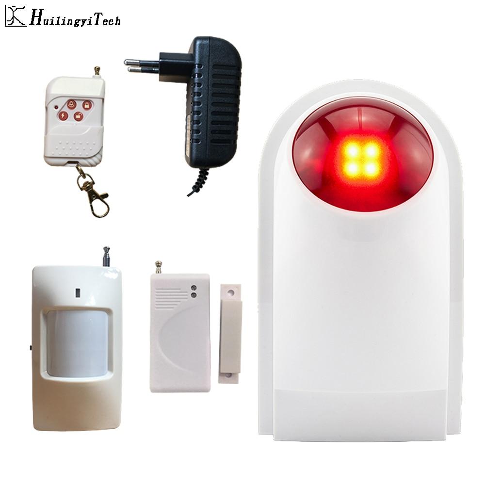 HuilingyiTech Wireless Alarm Outdoor Waterproof Flash Siren Sound Strobe Home Security System