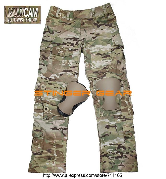 TMC L9 тактический бой Брюки Мультикам с наколенниками Оригинал MultiCam ткани Бесплатная доставка (SKU12050812)