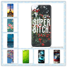 For HTC One A9 Cover Fashion Cartoon Transparent Matte Forested Plastic Print Hard Back Case For HTC A9 Aero A9w Crystal Case