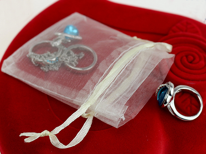 300pcs Direct Manufacturer Organza jewelry gift drawstring bags 12 36cm for accessories storage and packaging