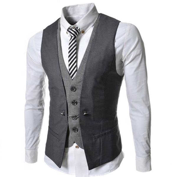 2016-New-Men-Suit-Vest-Fashion-Casual-Wedding-Formal-Business-Suits-Blazer-Costume-Vest (3)