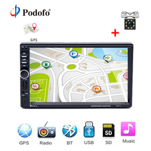 "Podofo 7018G Autoradio 2din Car Radio With GPS Navigation 7""HD Touch Screen Multimedia MP5 Player Bluetooth Audio Stereo Radio"