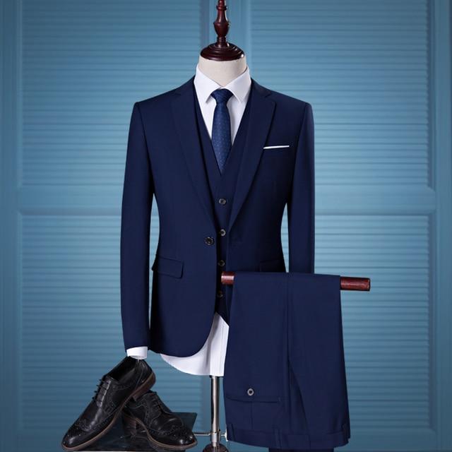 Aliexpress.com   Buy 2018 Men s Business Casual Suit 3 piece Suit ... 525630d121e8