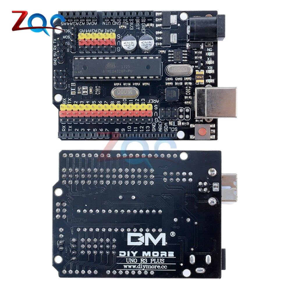 for Arduino Compatible UNO R3 PLUS Sensor I/O Shield Atmega328P Atmega16U2 Expansion Multifunctional Development Board One