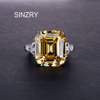 SINZRY 925 STERLING SILVER dazzling cut cubic zirconia rectangle bridal wedding ring for women