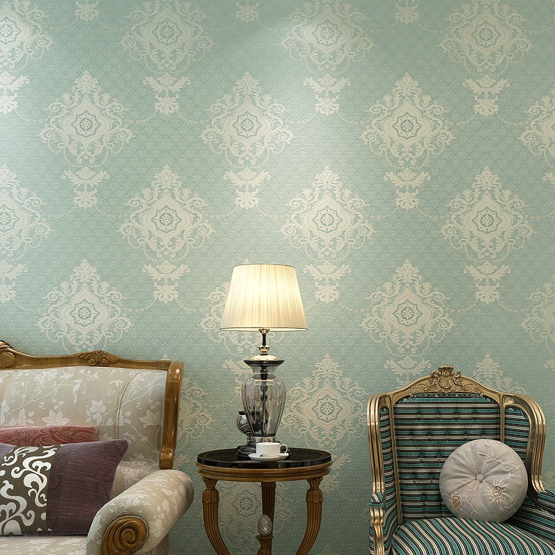 European Style 3D Embossed Damascus Non-woven Wallpaper Home Decor Luxury Damask Bedroom Living Room Wallpaper For Walls Roll 3D home decor wallpaper 3d luxury damask non woven wallpapers vertical stripes paper contact living room background wallpaper mural
