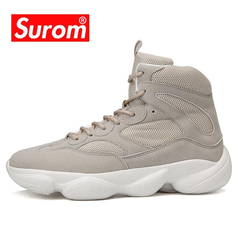 Krasovki SUROM High Top Running Shoes Esporte Ao Ar Livre Sapatos Leves Malha Respirável Sneakers Homens