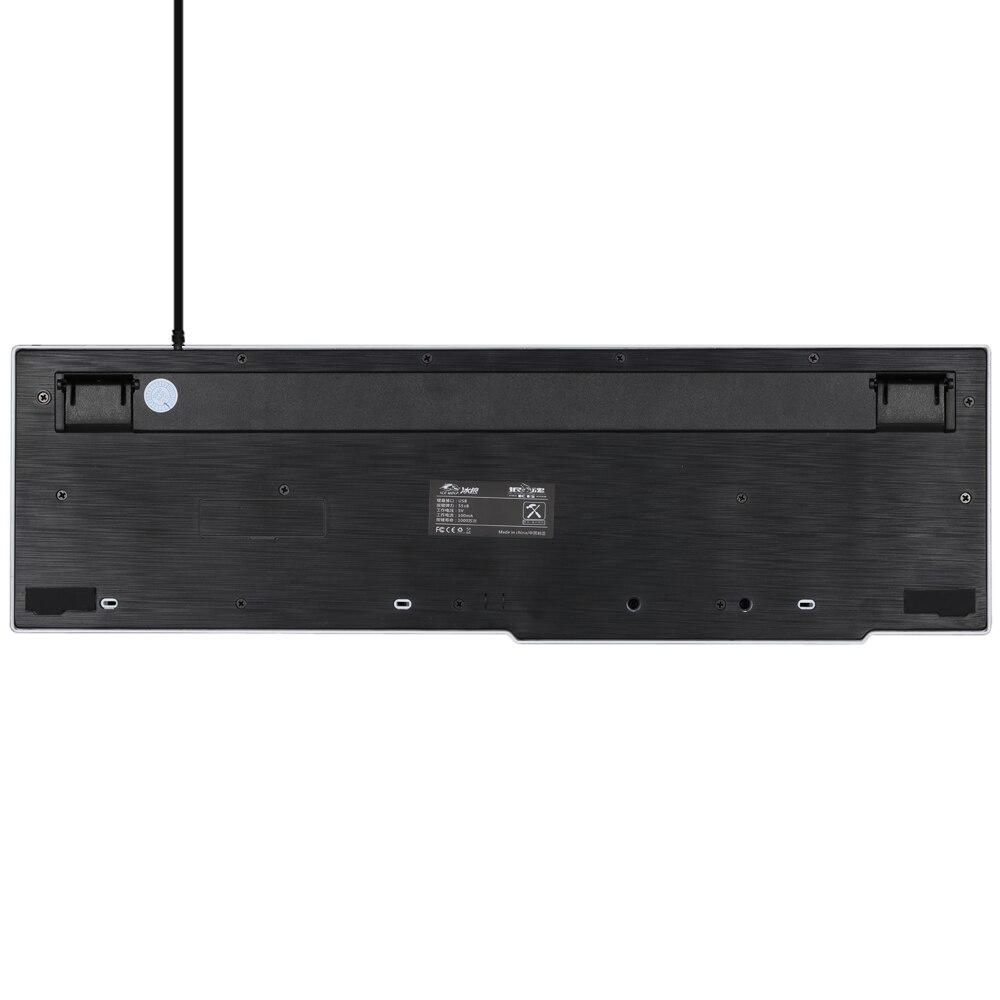 Ice WolfGaming Keyboard LED Backlit Keycaps Multimedia Professional Esport Gaming Qwerty Keyboard USB Wired 104 Keys Ergonomic 4