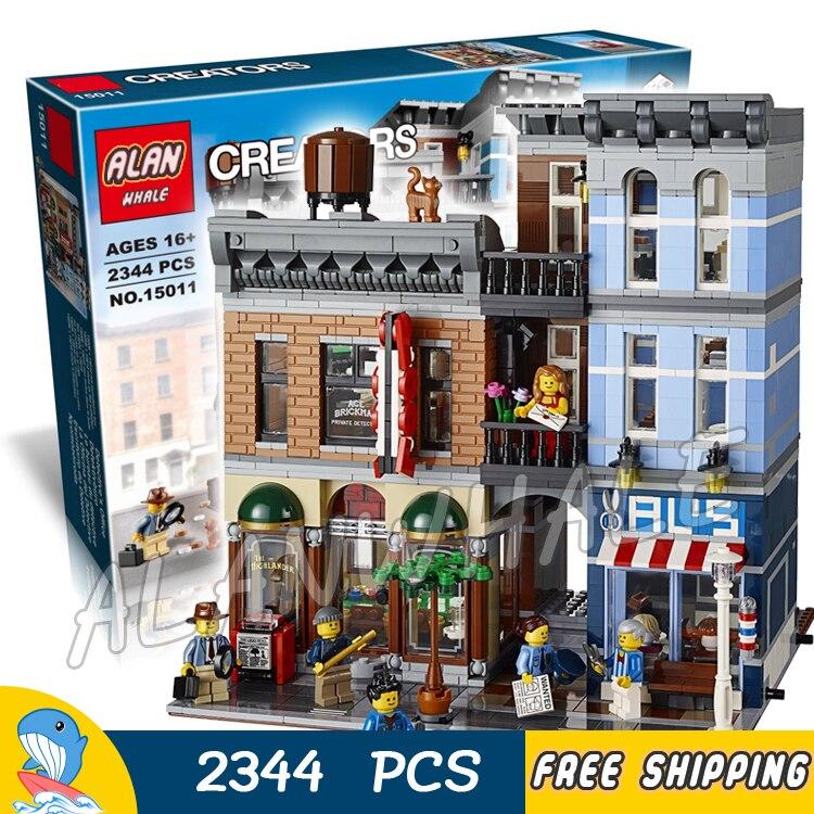 2344pcs 15011 Creator Expert Detective's Office Building Kit 3D Model Blocks Children Toys Bricks Compatible With lego