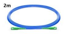 Câble de raccordement blindé PVC (OFNR) monomode 2 m SC APC à SC APC Simplex, cavalier de câble