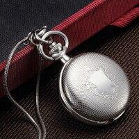 Модные Ретро Классические карманные часы из нержавеющей стали карнавальный возраст Gir карманные часы горячий стиль модные креативные женс