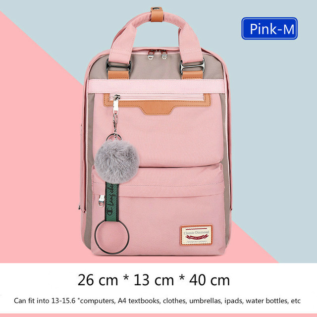 2020 New Waterproof Nylon Kids Backpack Girls For Middle School Students 2