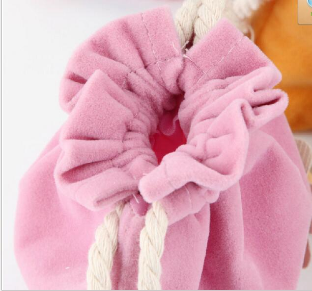 Flowers Coin Purse Drawstring HandBag Pocket Candy Color Small Debris Consolidation Package Travel Bag For Phone Earphone Line
