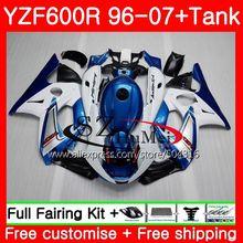 Corpo Para a YAMAHA Thundercat YZF600R Pérola azul 96 97 98 99 00 01 65SH11 600R YZF-600R YZF 1996 1997 1998 1999 2000 2001 Carenagem