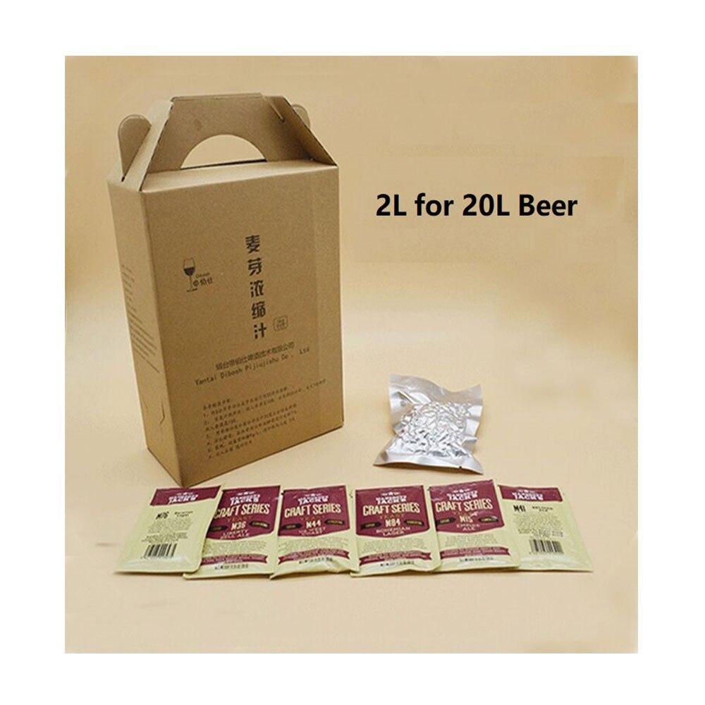 20L Birra Starter Kit Lievito di Birra Hop Malto Succo Concentrato Liquido Estratto di Malto Per La Casa Brew Beer Fare Protocollo-in Produzione birra da Casa e giardino su  Gruppo 1