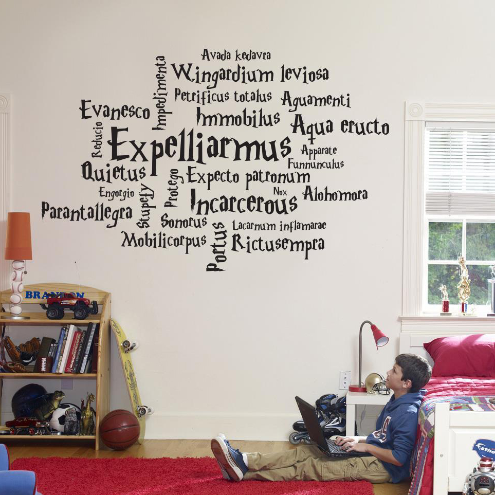 New Harry Potter Initials Vinyl Wall Sticker Kids Room Home Art Décor Wallpaper