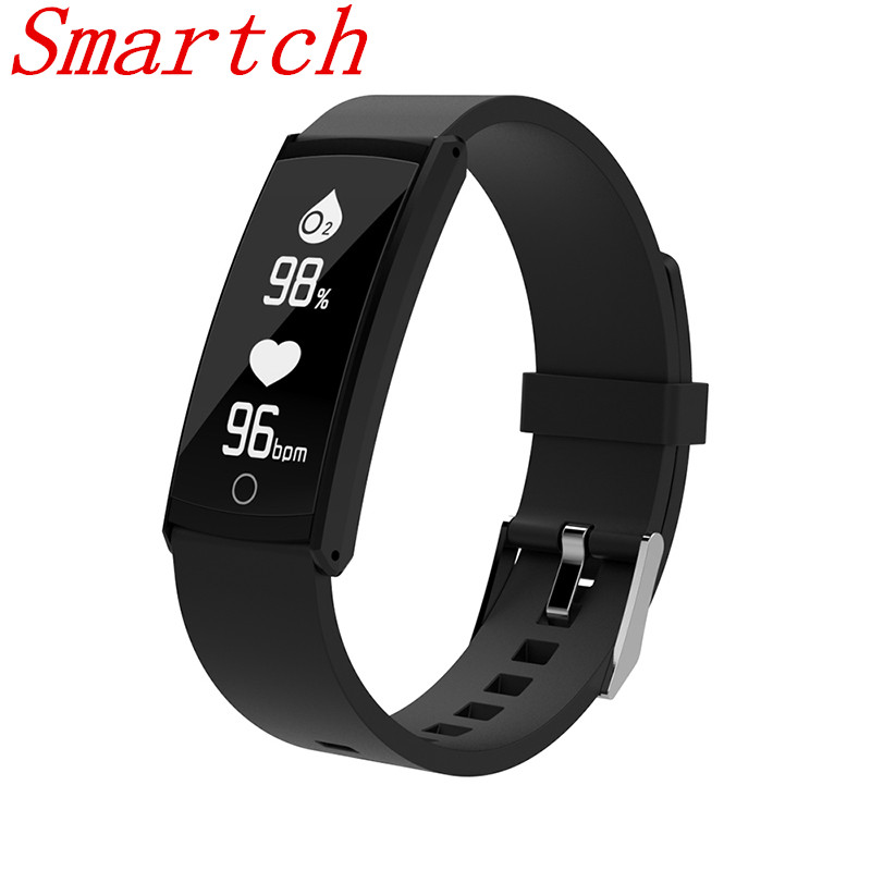 Smartch S6 Smart bracelet Blood Pressure Heart Rate Monitor Wristband Waterproof IP68 Sports Wristbands Band for