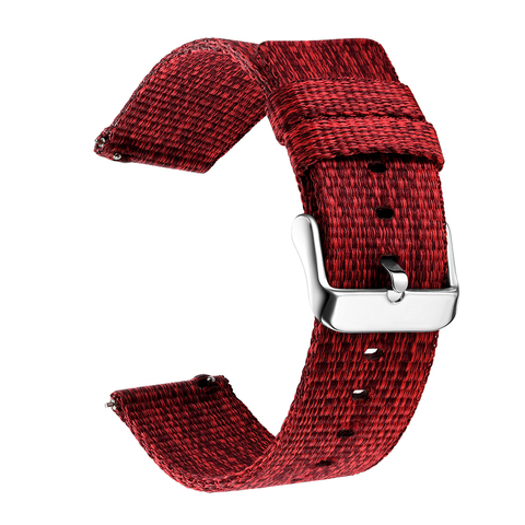18/20/22/24 mm Width Quick Release Watch Band General Common Use Fine Woven nylon Watch Bands Strap Lahore