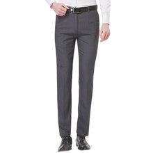 Unelastic серый-твердые отдельно устойчивостью плоской передней морщин легкий slim бизнес fit