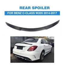 Carbon Fiber Rear Spoiler Trunk Boot Lip Wing for Benz W205 4 Door Sedan C180 C200 C250 C300 C400 C63 AMG 2014 -2017 Car Sticker