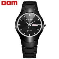 DOM Men Watch Tungsten Steel Luxury Top Brand Wristwatch 30m waterproof Business Watch Quartz Men Fashion Clock Relojes W 698.2
